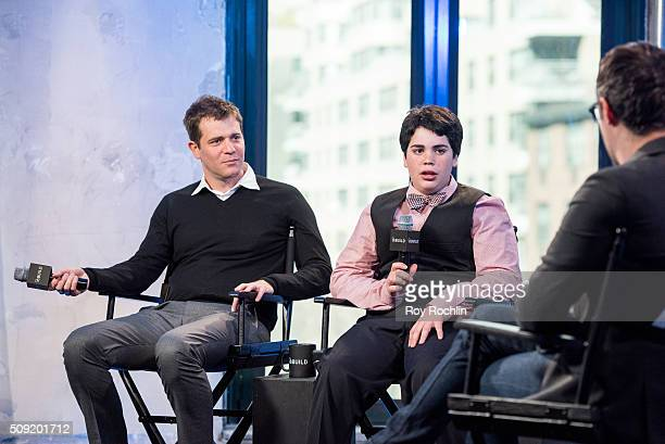 Cyrus Arnold and Nick Stoller discuss Zoolander 2 with AOL Build at AOL Studios In New York on February 9 2016 in New York City