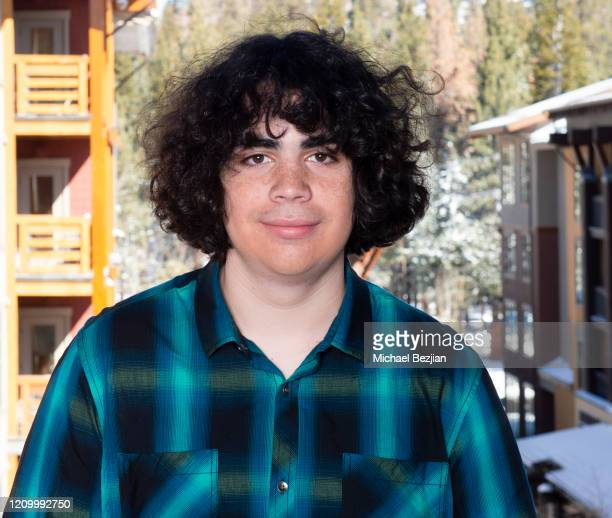 Cyrus Arnold poses for portrait at 3rd Annual Mammoth Film Festival Portrait Studio – Sunday on March 01, 2020 in Mammoth Lakes, California.