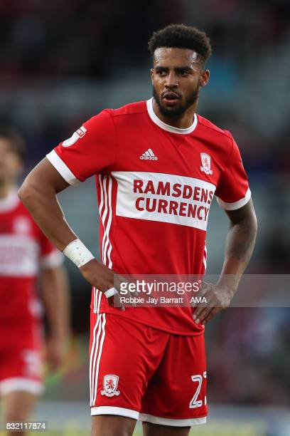 Cyrus Christie of Middlesbrough during the Sky Bet Championship match between Middlesbrough and Burton Albion at Riverside Stadium on August 15 2017...