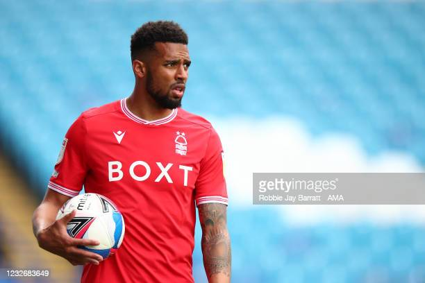Cyrus Christie of Nottingham Forest during the Sky Bet Championship match between Sheffield Wednesday and Nottingham Forest at Hillsborough Stadium...