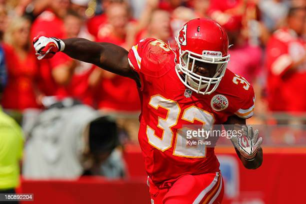 Cyrus Gray of the Kansas City Chiefs celebrate after successfully downing the punt within the Dallas Cowboys five yard line in the fourth quarter on...