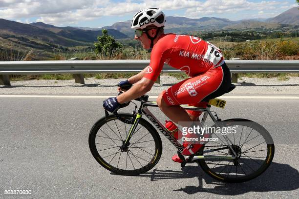 Cyrus Monk of Australia Kia Motors Ascot Park Hotel makes the climb to Coronet Peak during stage 3 from Mossburn to Coronet Peak during the 2017 Tour...
