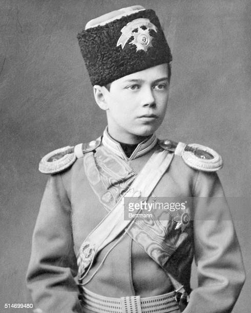 Czar Nicholas II in uniform of Russian Army when 13 years old Photograph ca 1890