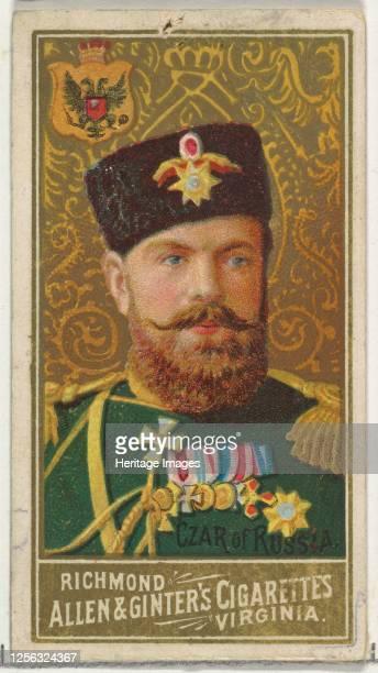 Czar of Russia, from World's Sovereigns series for Allen & Ginter Cigarettes, 1889. Artist Allen & Ginter.