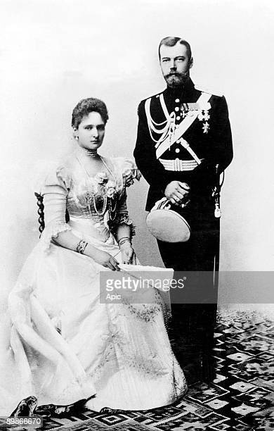 Czar of Russia Nicolas II and his wife czarina Alexandra Fedorovna in 1895