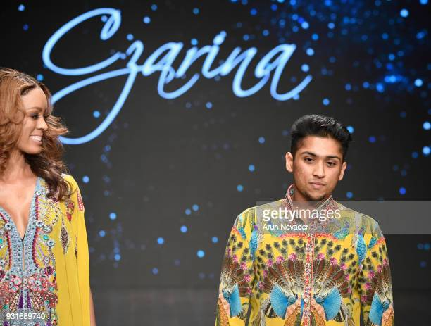 Czarina designer walks the runway at Los Angeles Fashion Week Powered by Art Hearts Fashion LAFW FW/18 10th Season Anniversary at The MacArthur on...