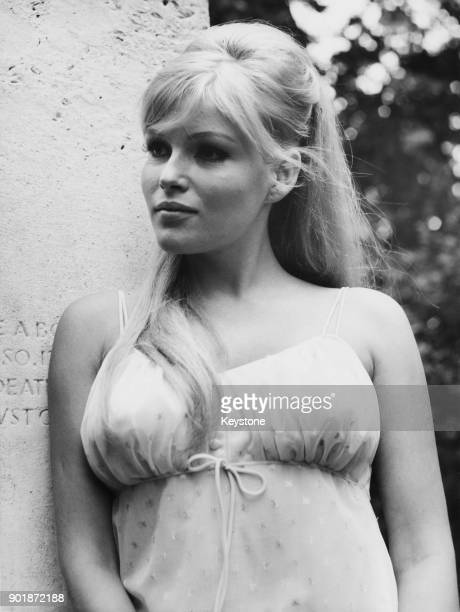 Czech actress Olga Berova or Schoberova at a press reception in London having been cast as Ayesha in the film 'The Vengeance of She' 22nd June 1967...
