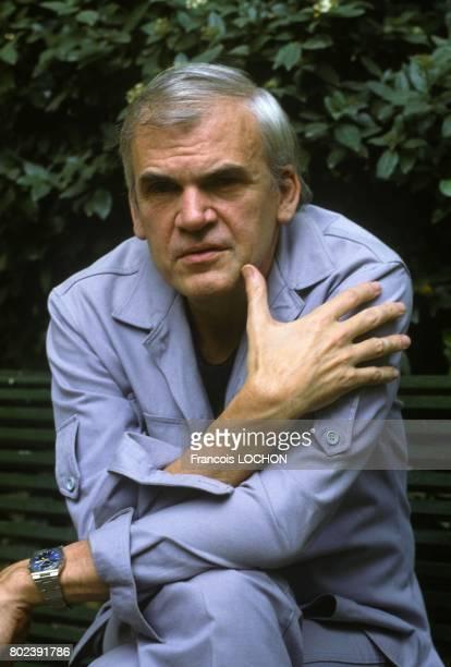 Czech author Milan Kundera on September 17 1982 in Paris France