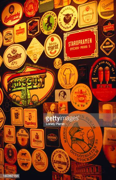 Czech beer mats at Soldaten Svejk.