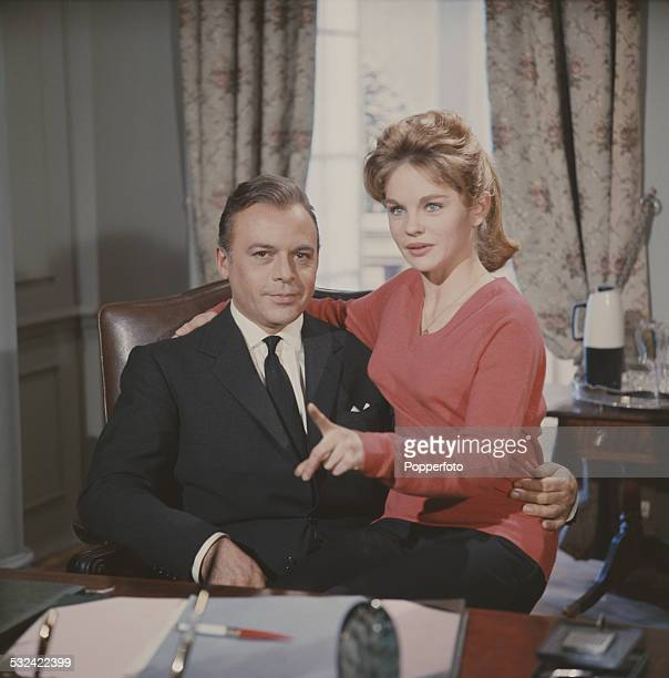 Czech born actor Herbert Lom pictured in character as Dr Roger Corder with actress Sally Smith who plays his daughter Jennifer on the set of the...