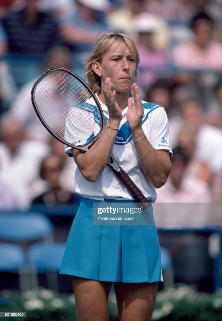 Czech born American tennis player Martina Navratilova circa 1986.