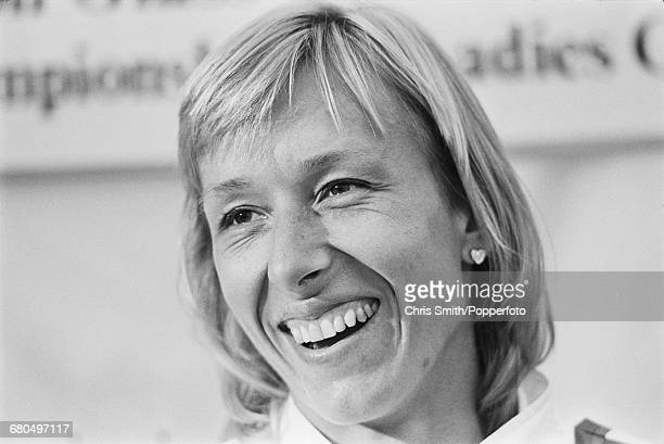 Czech born American tennis player Martina Navratilova pictured during competition at the Eastbourne International tennis tournament at Devonshire...