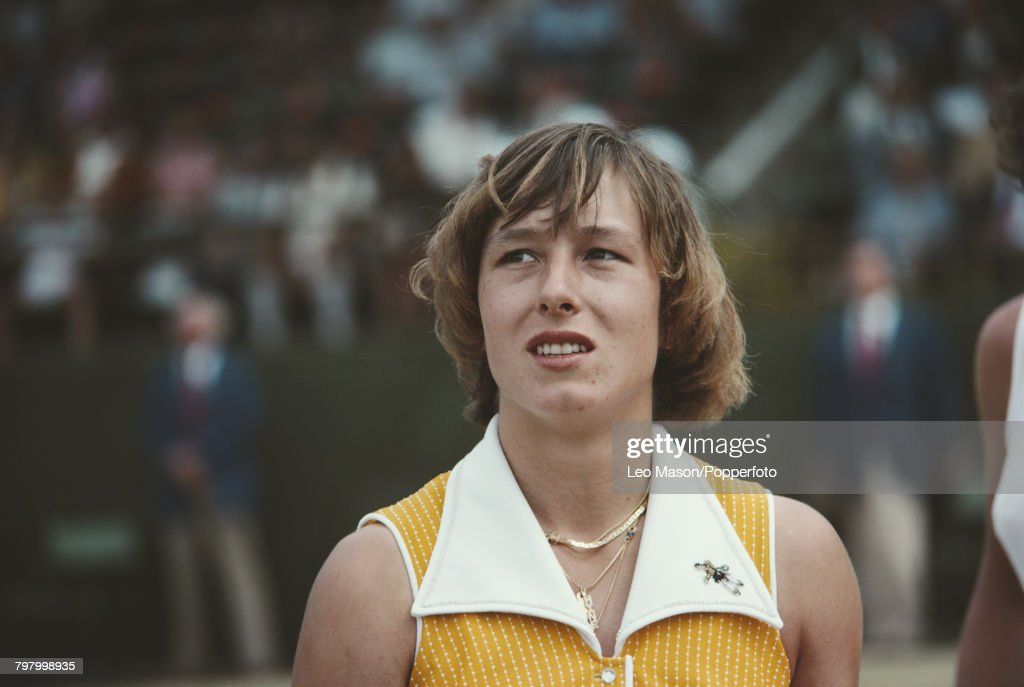 Czech born American tennis player Martina Navratilova pictured during competition to progress to the semifinals of the 1978 US Open Women's Singles tennis tournament at the USTA National Tennis Center at Flushing Meadows in New York in September 1978.