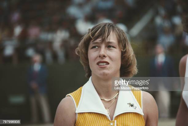Czech born American tennis player Martina Navratilova pictured during competition to progress to the semifinals of the 1978 US Open Women's Singles...