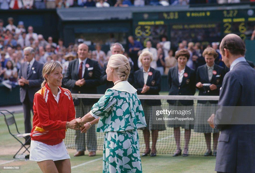 Martina Navratilova Wins 1982 Wimbledon Championships : News Photo
