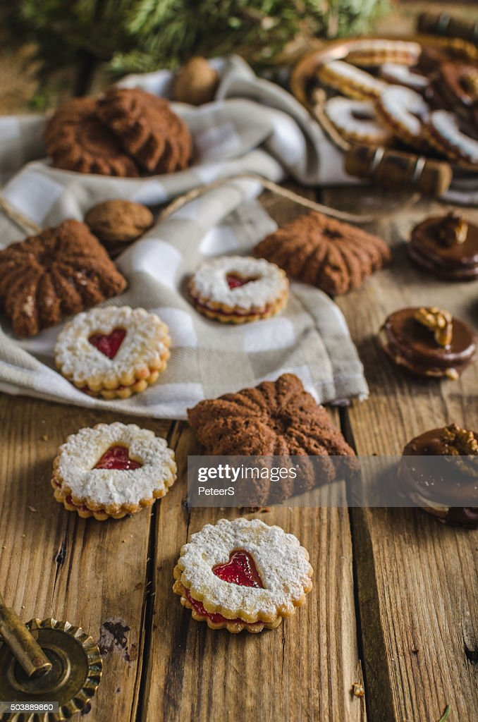 Czech Christmas Cookies Stock Photo Getty Images