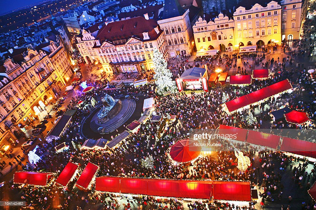 Czech Christmas Markets at Prague Old Town Square : ストックフォト