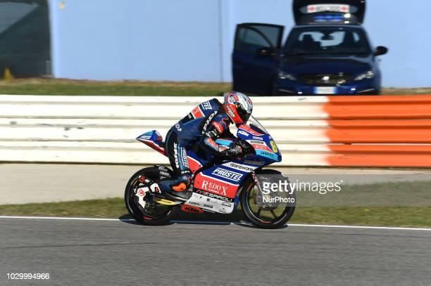 84 Czech driver Jakub Kornfeil of Team Pruestl GP driving during warm up in Misano World Circuit Marco Simoncelli in Misano Adriatico for San Marino...