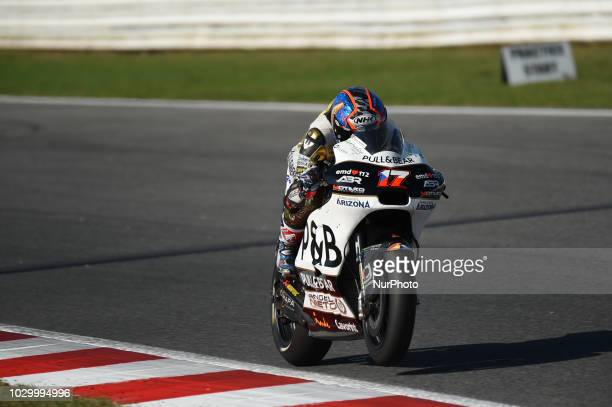 17 Czech driver Karel Abraham of Team Aspar MotoGP Team driving during warm up in Misano World Circuit Marco Simoncelli in Misano Adriatico for San...