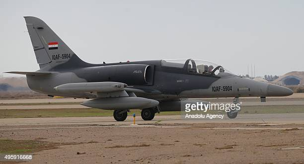 Czech fighter jet is seen during a delivery ceremony of the Czech fighter jets at Balad air base in Saladin, Iraq on November 05, 2015.