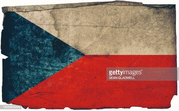 czech grunge flag poster - insignia stock pictures, royalty-free photos & images