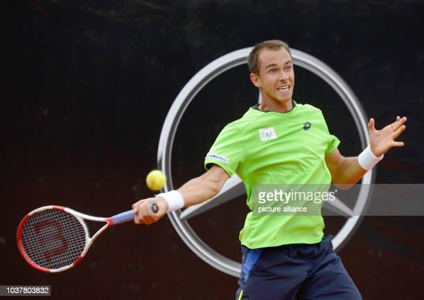 Czech Lukas Rosol during the ATPtennis tournament finale in Stuttgart Germany 13 July 2014 Photo Daniel Maurer/dpa   usage worldwide