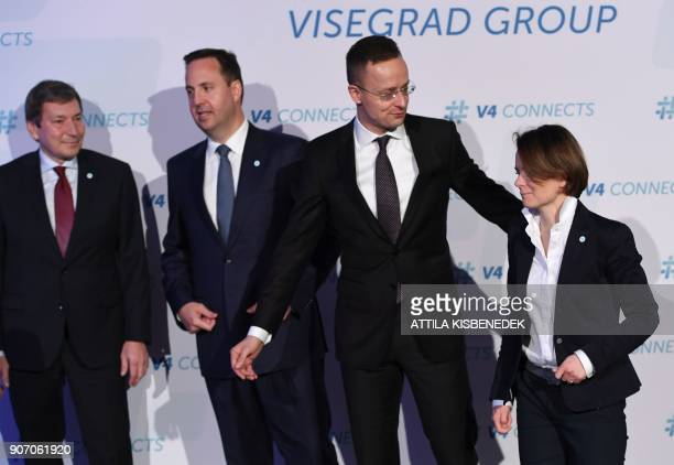 Czech Minister for Industry and Trade affairs Toma Huner Australian minister for Trade tourism and investment Steven Ciobo Hungary's Minister of...