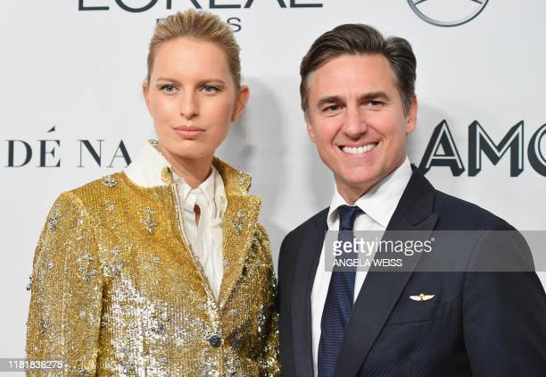 Czech model Karolína Kurková and her husband producer Archie Drury attend the 2019 Glamour Women Of The Year Awards at Alice Tully Hall Lincoln...