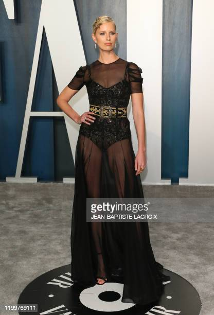 Czech model Karolína Kurkova attends the 2020 Vanity Fair Oscar Party following the 92nd Oscars at The Wallis Annenberg Center for the Performing...