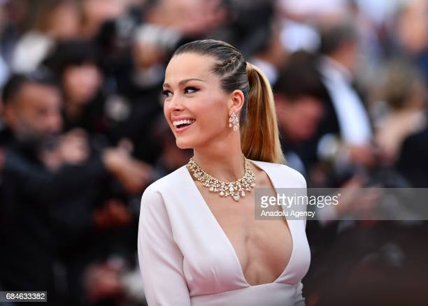 Czech model Petra Nemcova arrives for the screening of the film 'Nelyubov' in competition at the 70th annual Cannes Film Festival in Cannes France on...