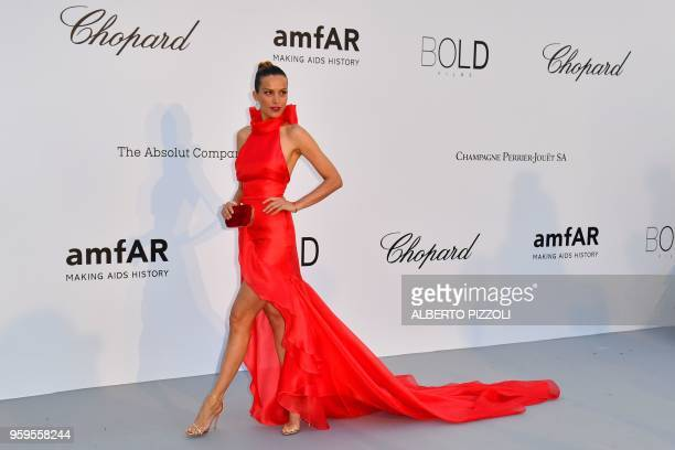 Czech model Petra Nemcova arrives on May 17, 2018 for the amfAR 25th Annual Cinema Against AIDS gala at the Hotel du Cap-Eden-Roc in Cap d'Antibes,...