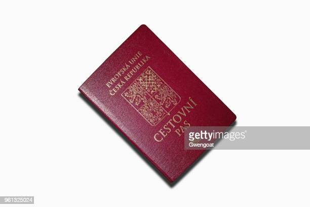 Czech passport isolated on a white background
