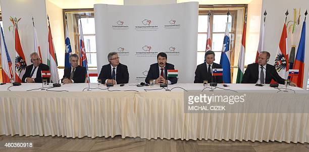 Czech President Milos Zeman Austrian President Heinz Fischer Poland's President Bronislaw Komorowski Hungary's President Janos Ader Slovenian...