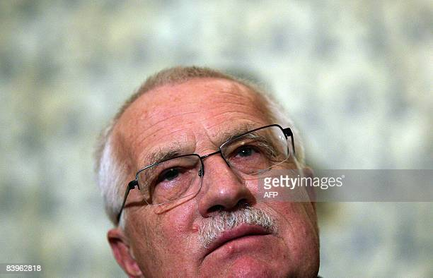 Czech President Vaclav Klaus presents the Bulgarian edition of his book Blue Planet in Green Chains What is Endangered Climate or Freedom during a...