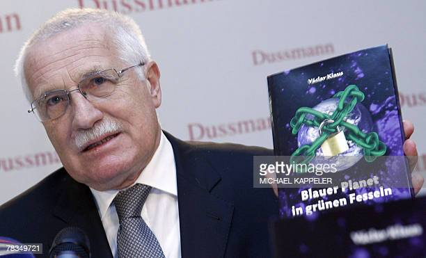 Czech President Vaclav Klaus presents the German edition of his book Blue Planet in Green Chains What is Endangered Climate or Freedom 10 December...