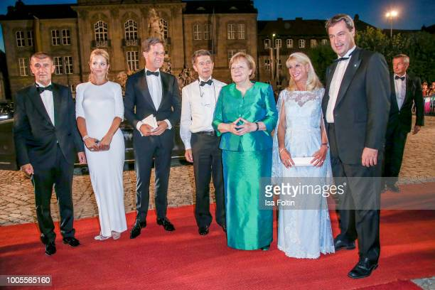Czech Prime Minister Andrej Babis and his wife Monika Babisova German Federal Chancellor Angela Merkel and her husband Joachim Sauer Bavarian State...