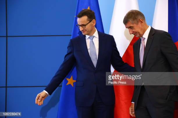 Czech Prime Minister Andrej Babis meets Polish Prime Minister Mateusz Morawiecki for official visit to Warsaw.
