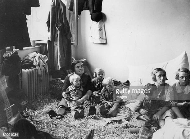 Czech refugees from the german settelment area in the bohemian countries so called Sudetenland after the invasion of the German armed forces...