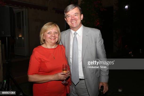 Czech Republic Ambassador Milan Hovorka with wife Jarmila Hovorkova during the Good France 2017 annual dinner hosted by French Ambassador Alexandre...