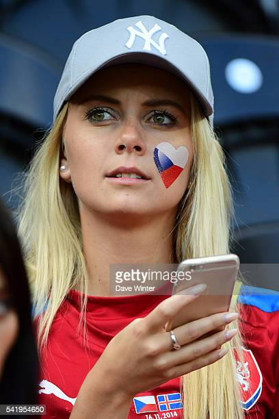 Czech Republic fans during the UEFA EURO 2016 Group D match between Czech Republic and Turkey at Stade BollaertDelelis on June 21 2016 in Lens France