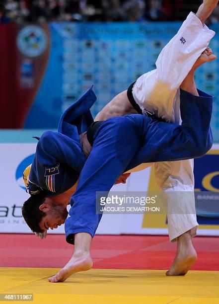 Czech Republic Lukas Krpalek competes against France's Cyrille Maret during the men's 100kg final at the 2014 Paris Judo Grand Slam tournament on...