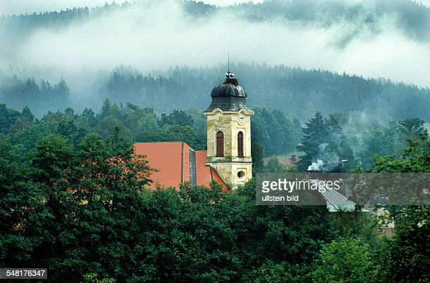 Czech Republic Marianske Lazne church in the emperor forest