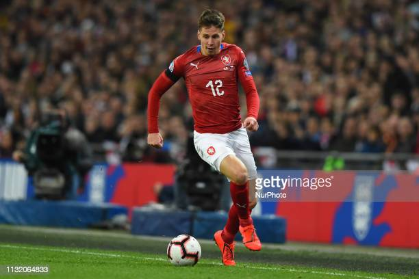 Czech Republic midfielder Lukas Masopust makes a break down the wing during the UEFA European Championship Group A Qualifying match between England...