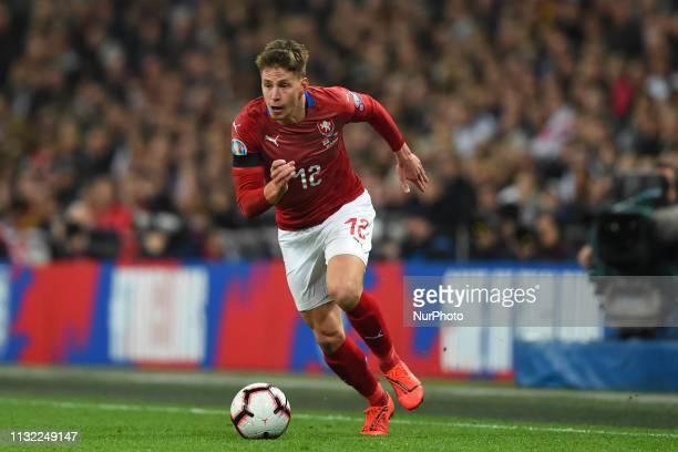 Czech Republic midfielder Lukas Masopust makes a break during the UEFA European Championship Group A Qualifying match between England and Czech...