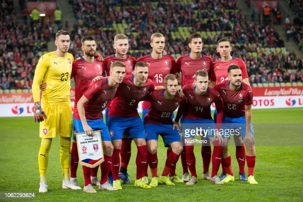 Czech Republic national football team during the international friendly soccer match between Poland and Czech Republic at Energa Stadium in Gdansk...