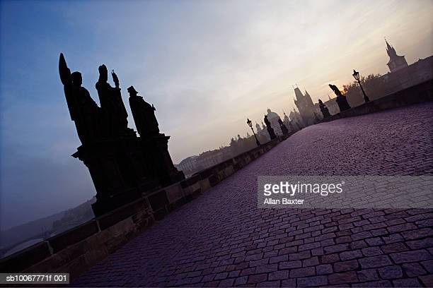 Czech Republic, Prague, Charles Bridge at dawn