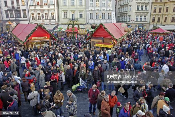 Czech Republic Prague Christmas Market in Old Town Square