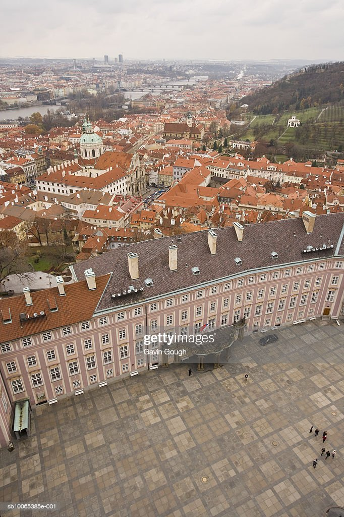 Czech Republic, Prague, Cityscape from St Vitus Cathedral : Foto stock