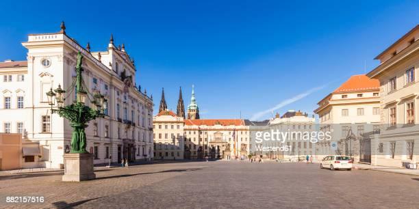 Czech Republic, Prague, Hradcany, Castle, archiepiscopal Palais and Palais Schwarzenberg