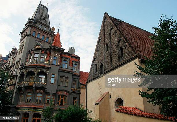 Czech Republic Prague Old New Synagogue Gothic 13th century Josefov Is Europe's oldest active synagogue